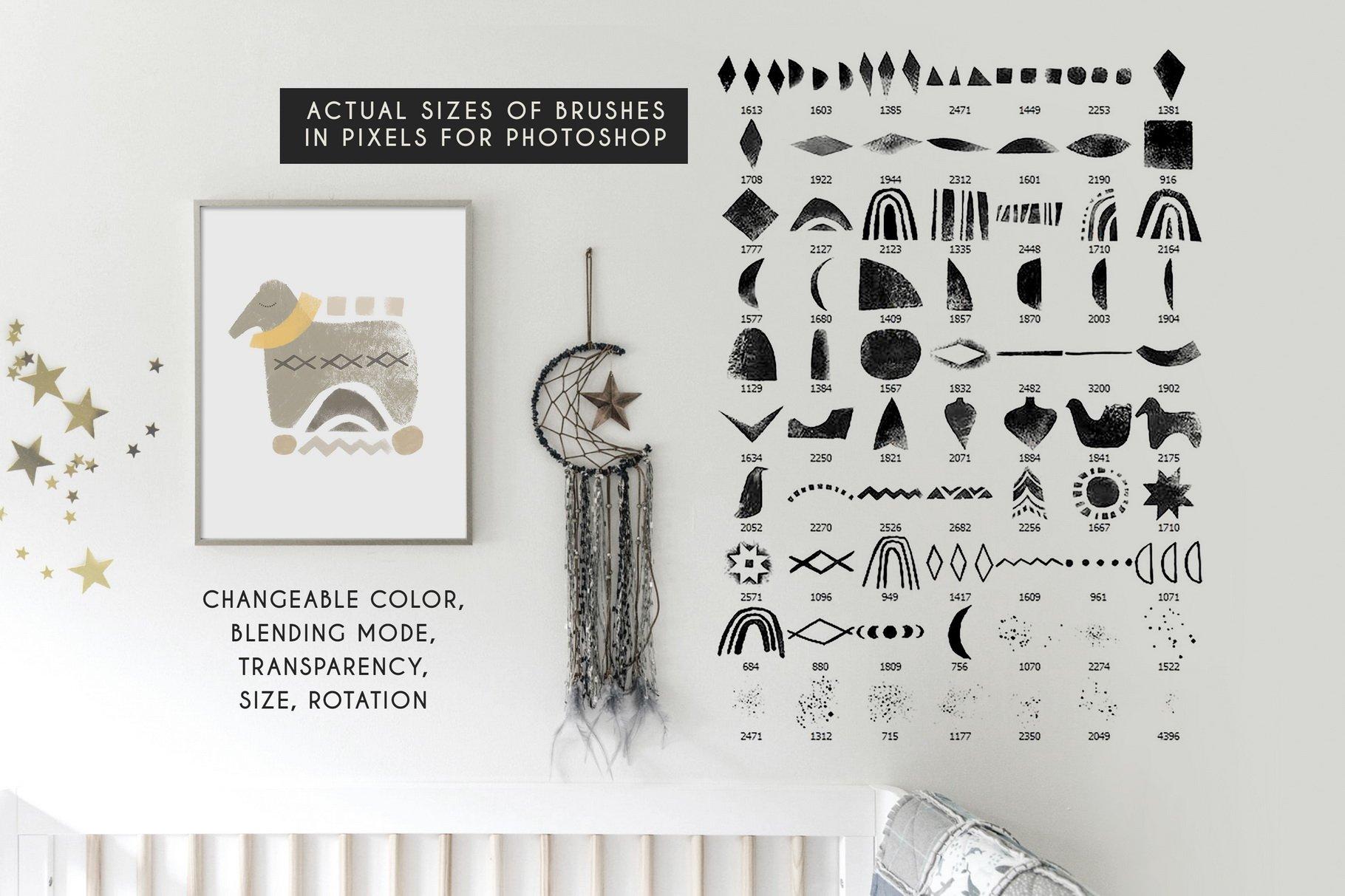 775款艺术气息水彩水墨丙烯酸绘画效果PS图章笔刷素材 Photoshop Stamp Brushes Bundle 2020插图33