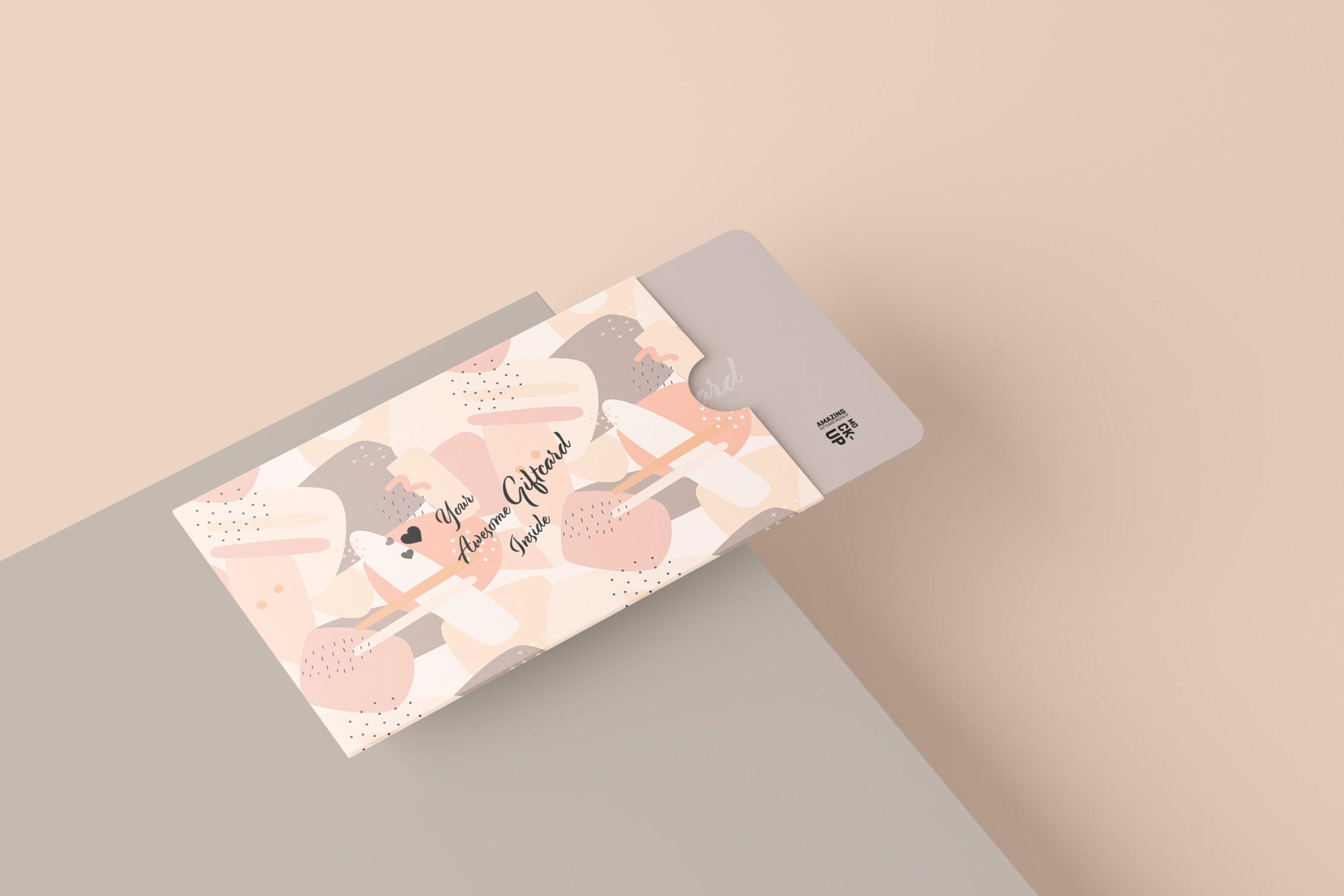 11款名片礼品卡设计展示贴图样机模板 Gift Card Mockup插图8