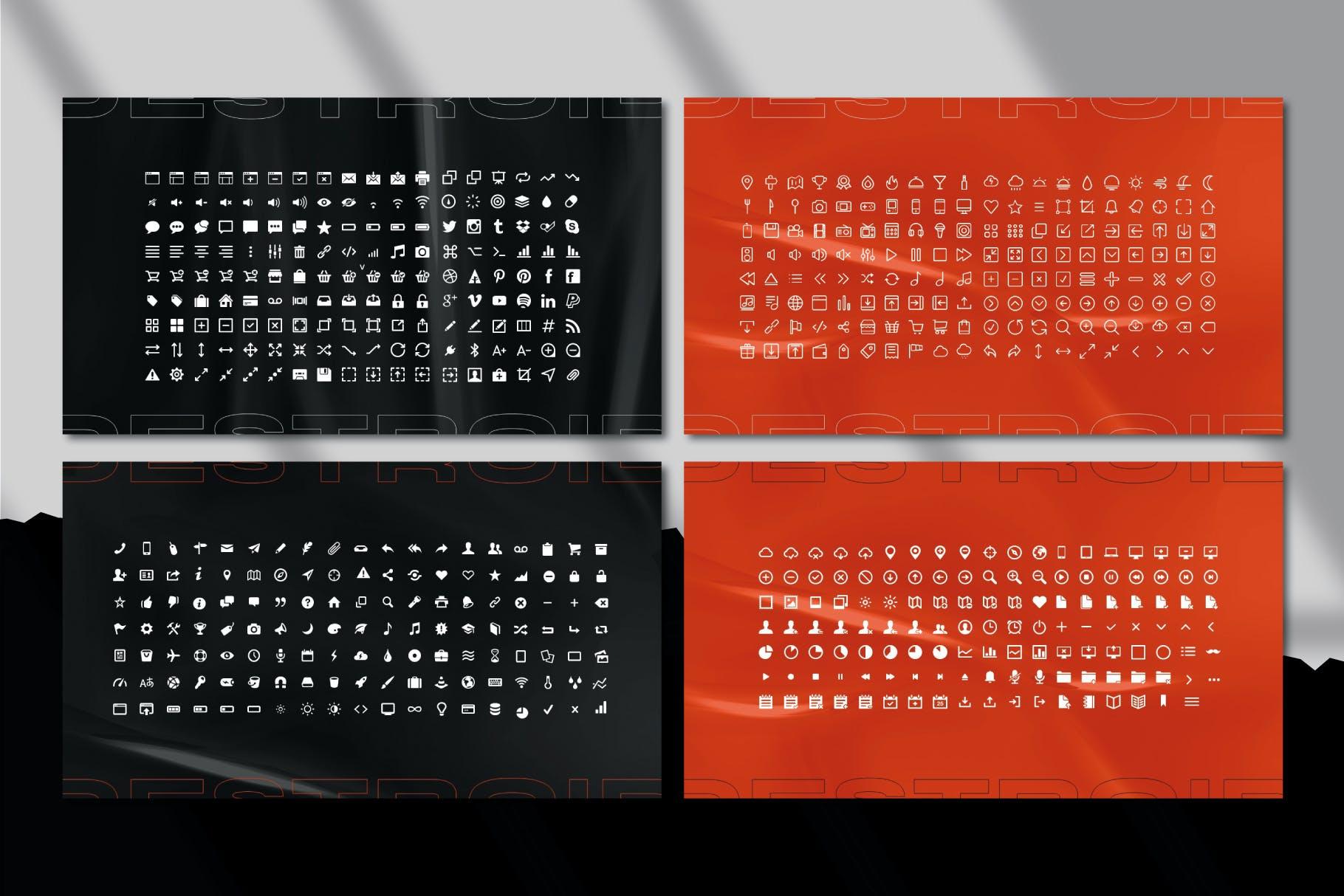 潮流街头潮牌服装推广PPT幻灯片设计模板 Destroid – Keynote Template插图7