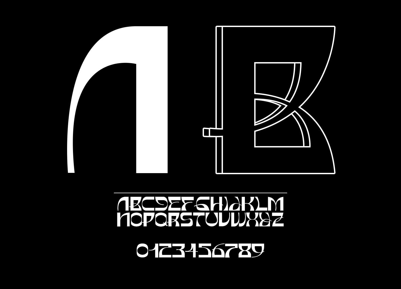 时尚潮流弯曲杂志海报标题徽标Logo文字设计无衬线英文字体 Basylisk Typeface插图7
