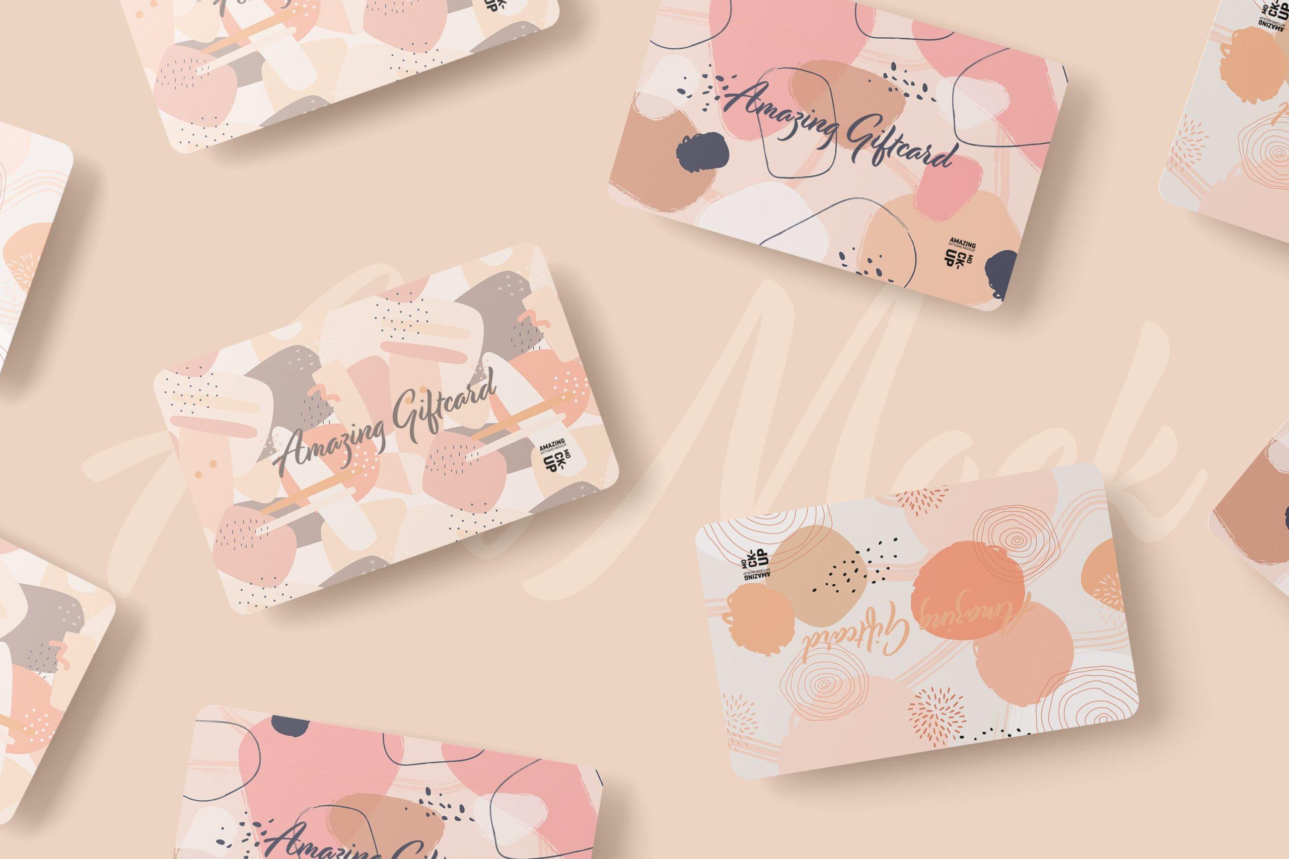 11款名片礼品卡设计展示贴图样机模板 Gift Card Mockup插图9
