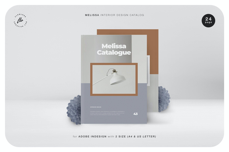 室内家具家居设计作品集目录排版INDD画册模板素材 Melissa Interor Design Catalog插图