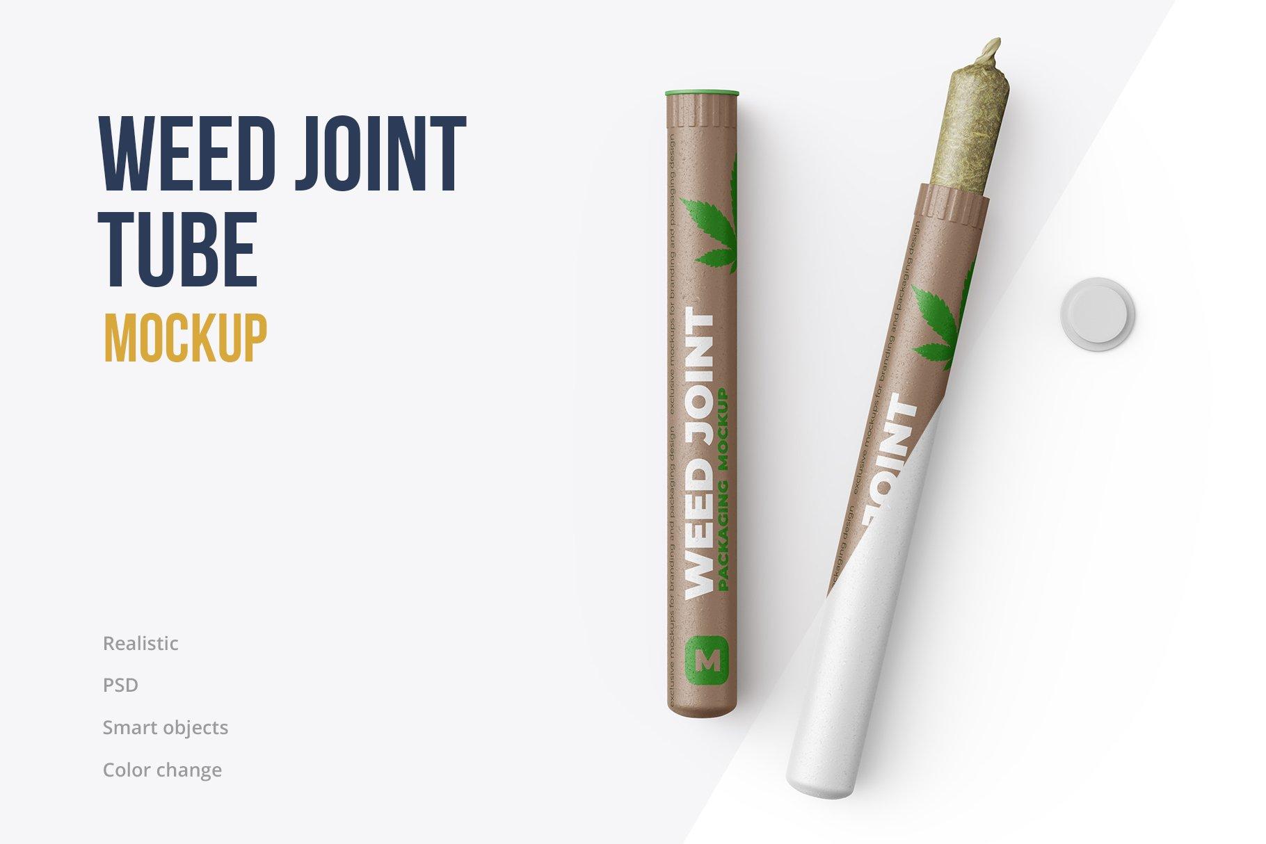 香烟雪茄联合预卷管样机 Weed Joint Pre-Roll Tubes Mockup插图