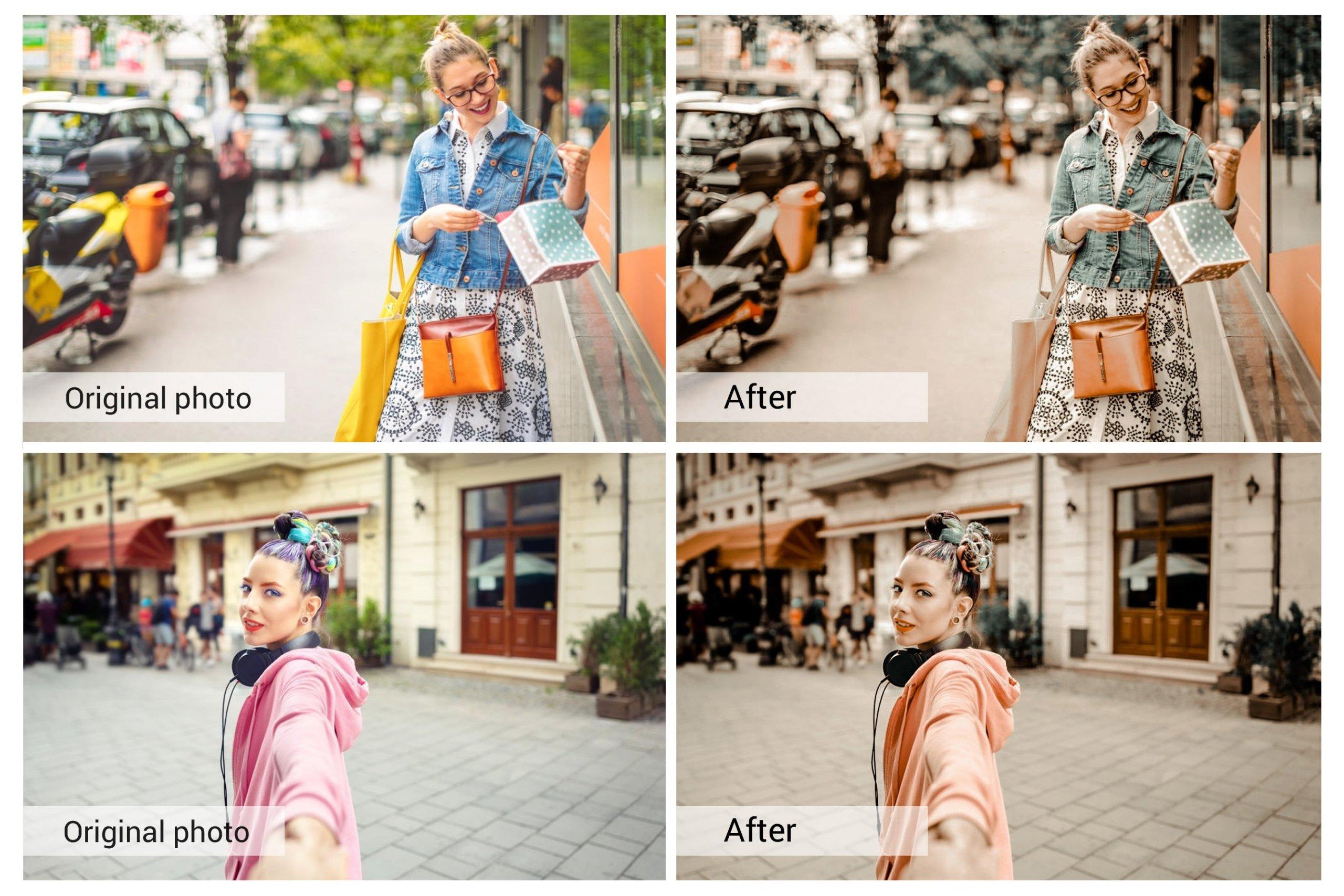 奶油咖啡色照片调色滤镜LR预设&PS动作套装 Coffe Milk Presets Photoshop Actions插图1