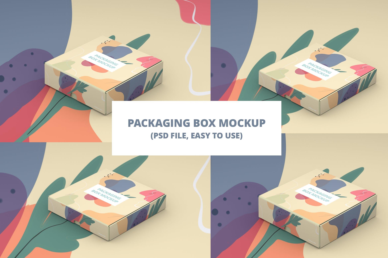 产品快递纸盒设计展示样机模板 Packaging Box Mokcup插图