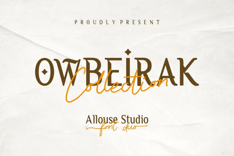 现代时尚杂志标题Logo设计衬线英文字体素材 Owbeirak Collection Font Duo插图