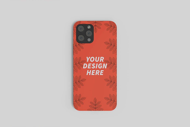 苹果iPhone 12手机壳外观设计PS贴图样机 iPhone 12 Casing Mockup插图1
