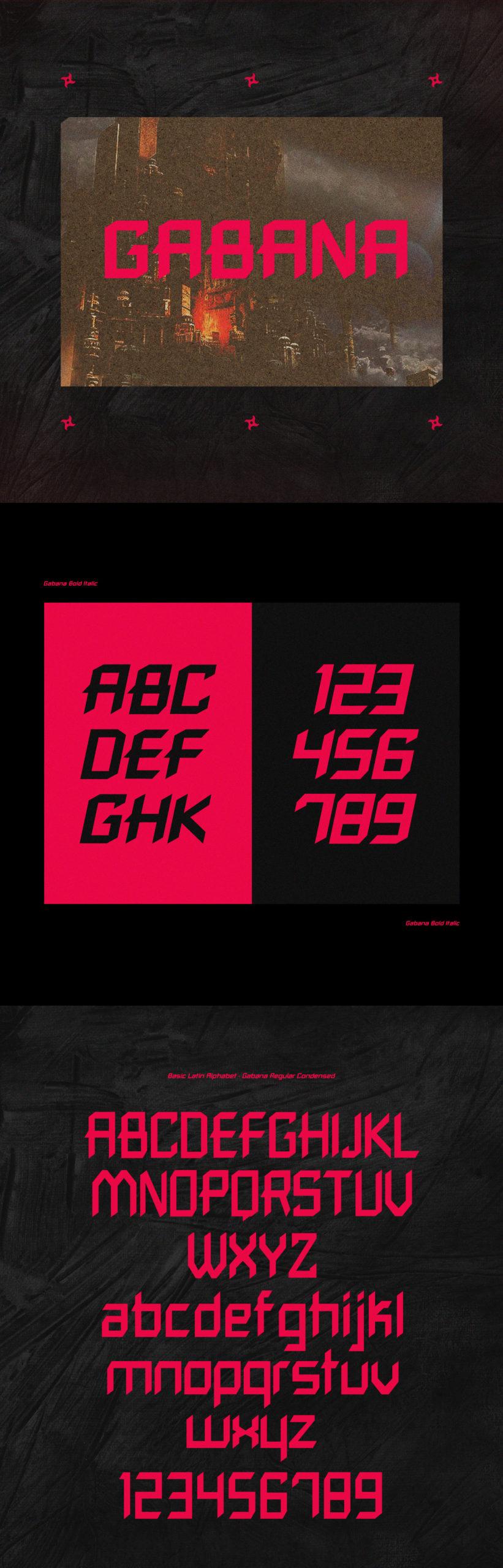 80年代复古标题徽标Logo设计粗体英文字体素材 Gabana Font插图