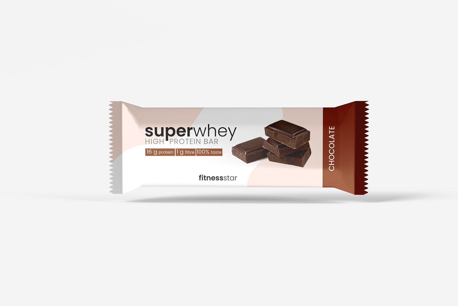 9款零食小吃塑料包装袋设计展示贴图样机 Snack Protein Bar Mockup – 9 Views插图9