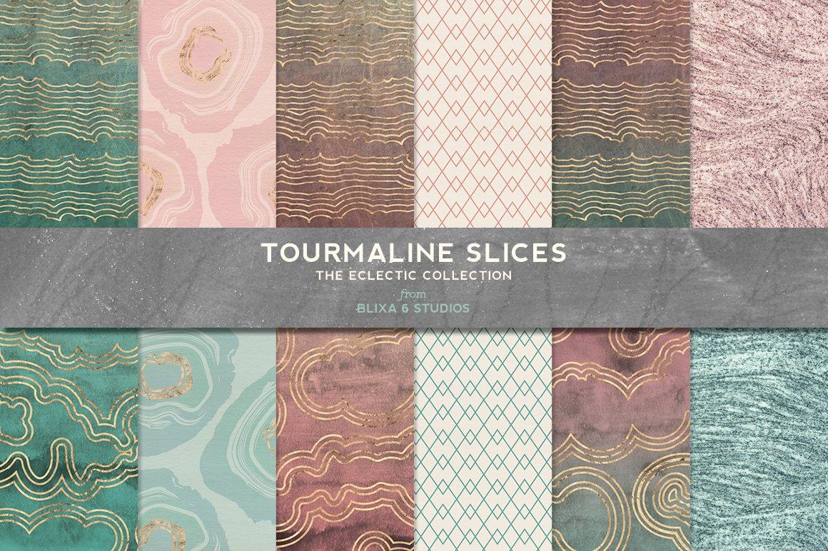 168款时尚优雅抽象玫瑰金大理石纹理背景图片设计素材套装 168 Abstract Textures & Patterns插图9