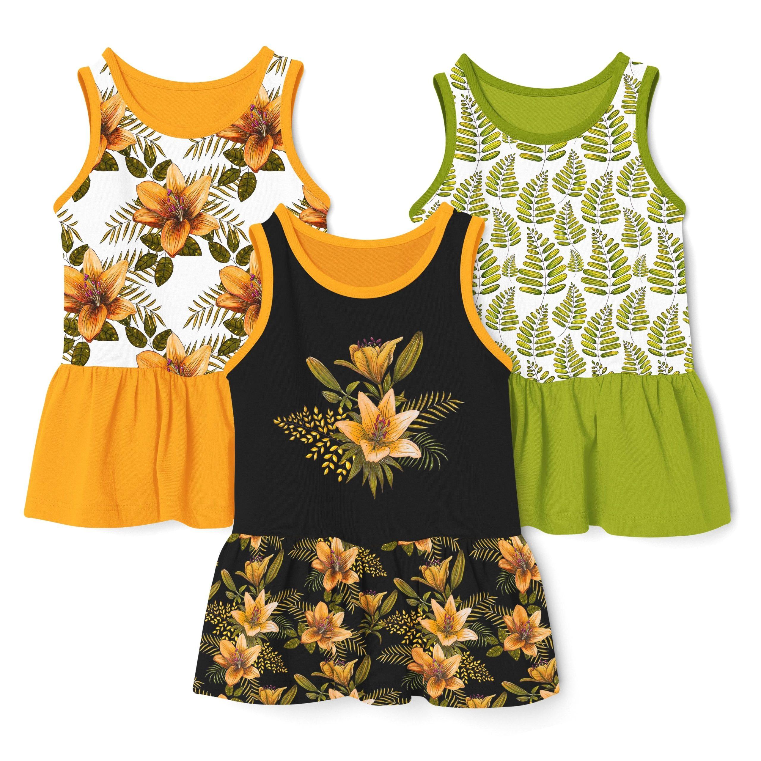 橙色无缝隙百合花手绘水彩画图片设计素材 Orange Lilies. Patterns and Postcards插图9