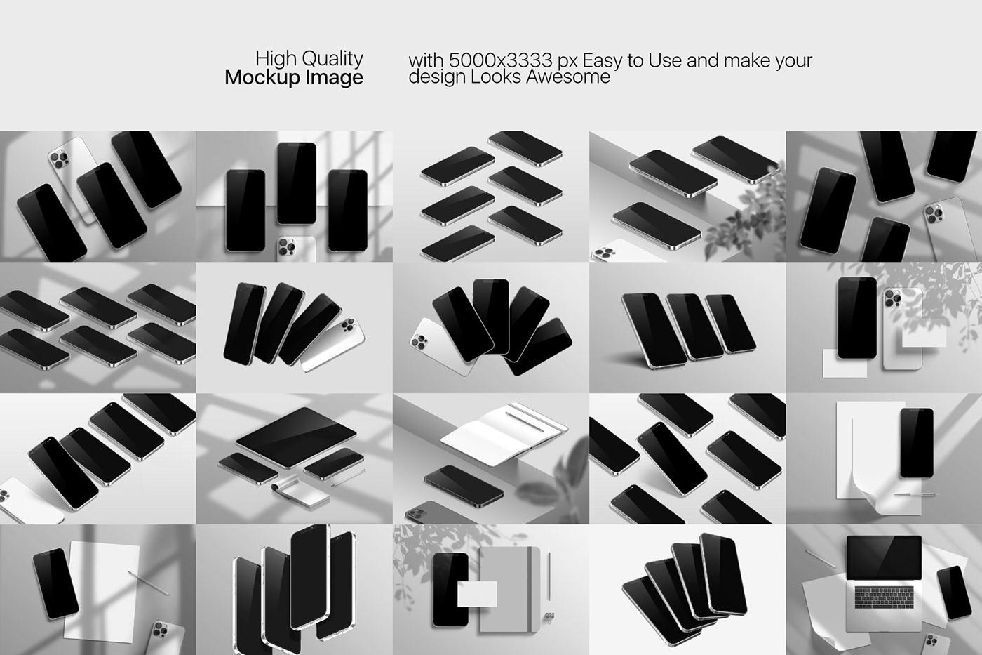 20款时尚苹果iPhone 12 Pro手机APP应用设计屏幕演示样机模板 iPhone 12 Pro Max Mockup插图10