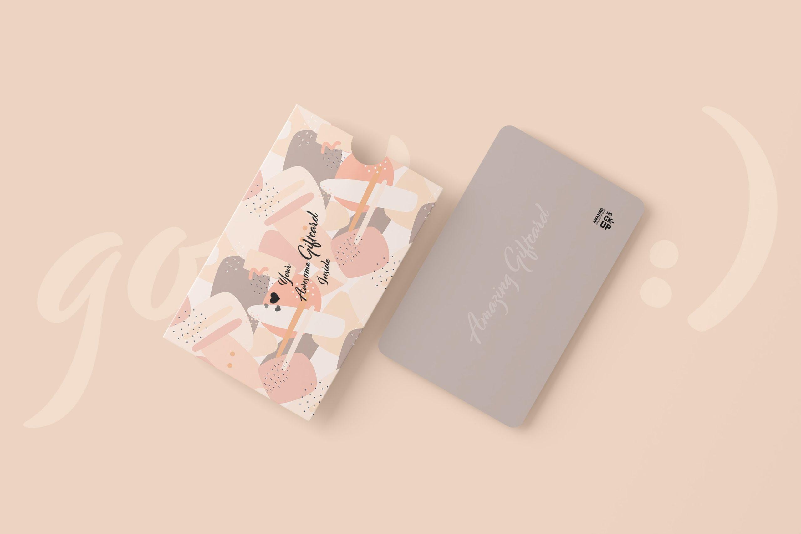11款名片礼品卡设计展示贴图样机模板 Gift Card Mockup插图10