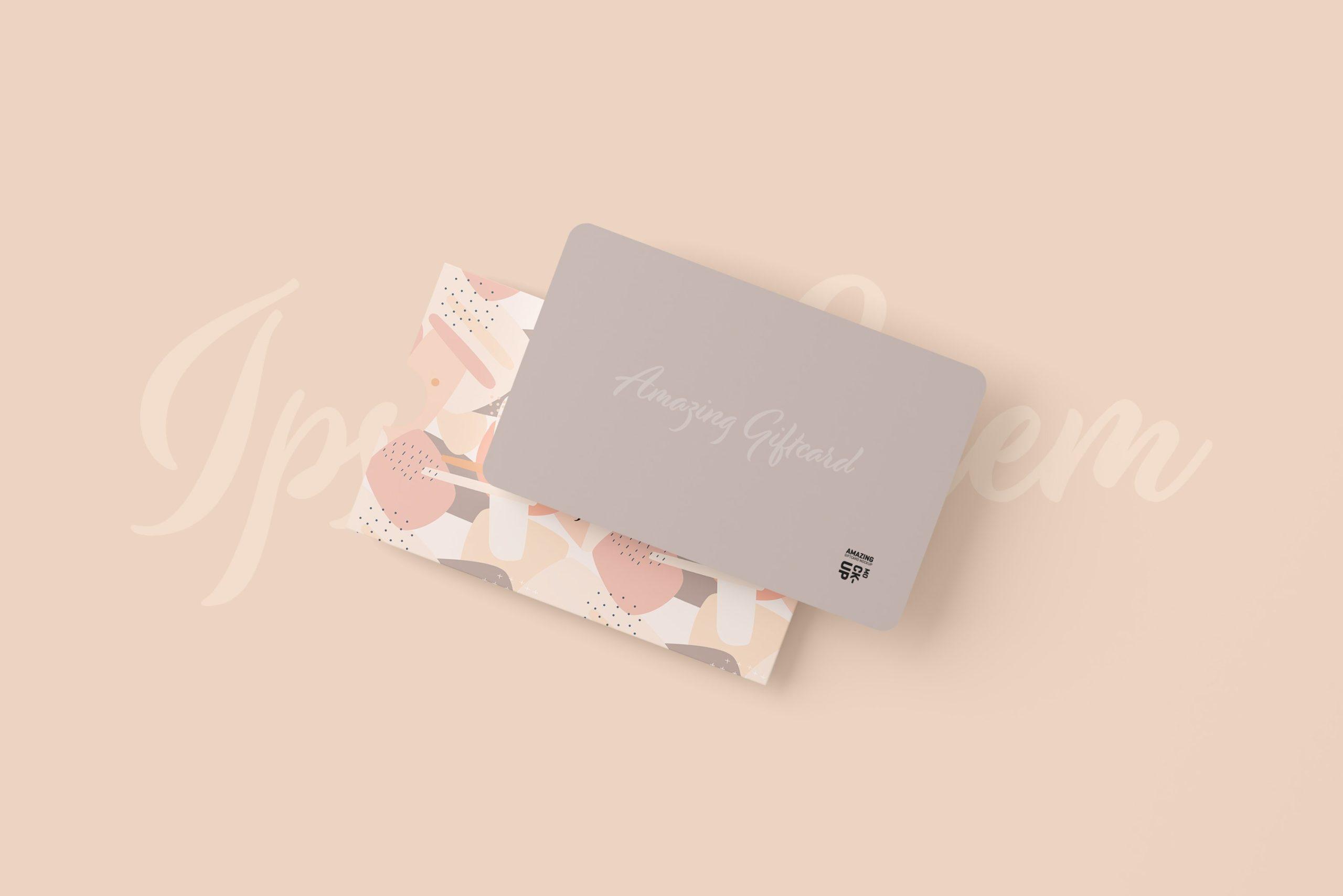 11款名片礼品卡设计展示贴图样机模板 Gift Card Mockup插图11