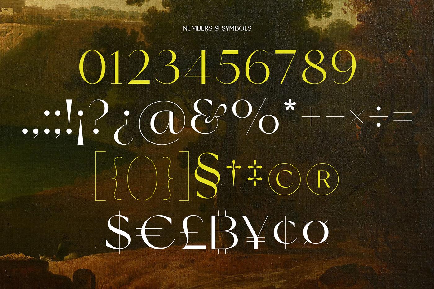 现代时尚杂志标题徽标Logo设计无衬线英文字体素材 Miracle Typeface插图12