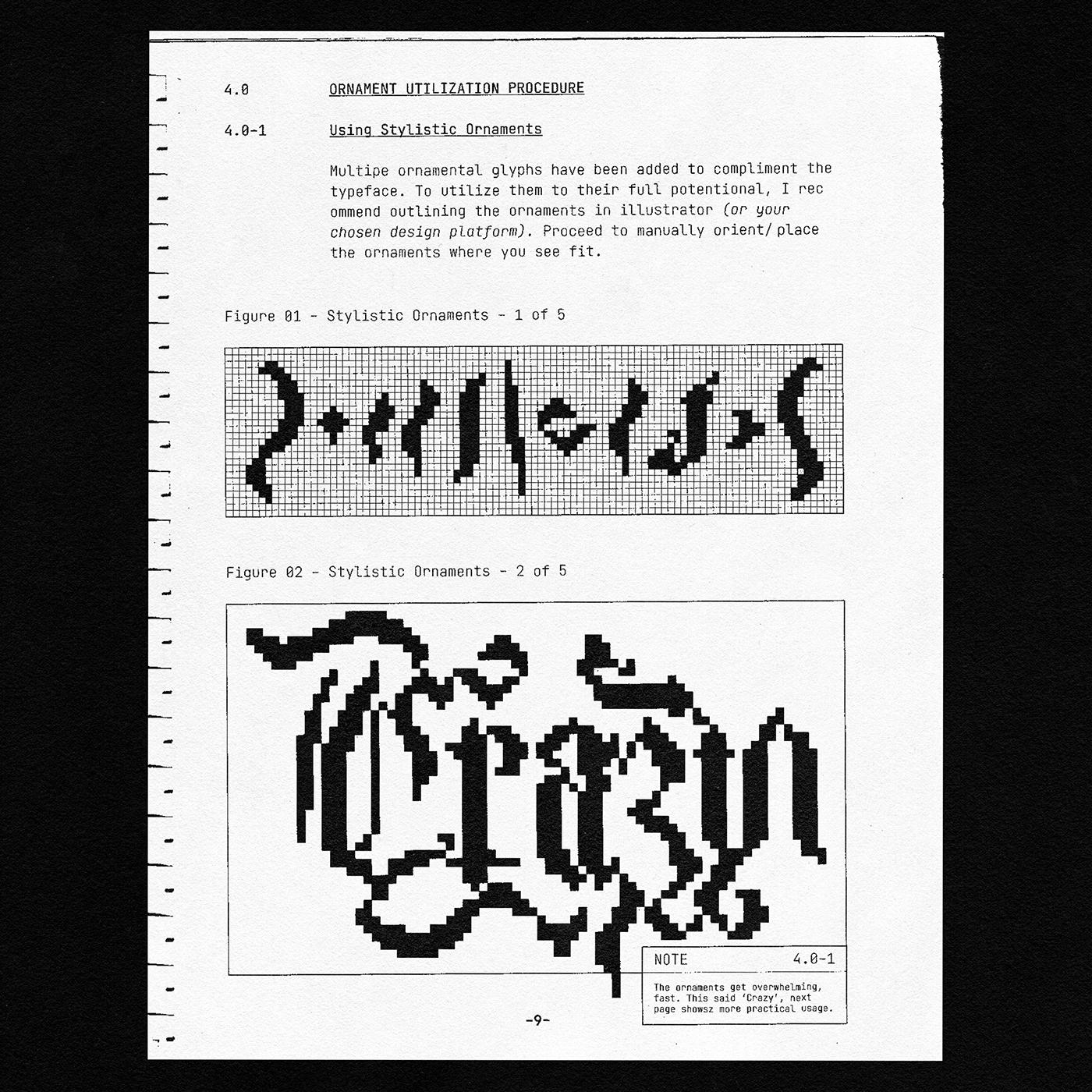 [淘宝购买] 潮流复古像素CRT显示海报标题徽标Logo设计装饰字体素材 Heritage Display Pixel Blackletter插图11