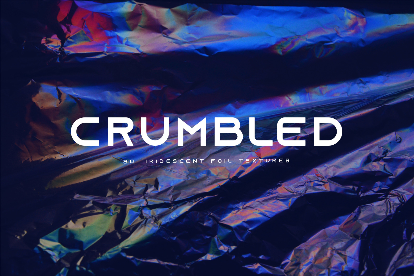 [淘宝购买] 80款潮流全息渐变虹彩金属箔纸纹理海报设计背景图片素材 Crumbled – 80 Foil Textures插图