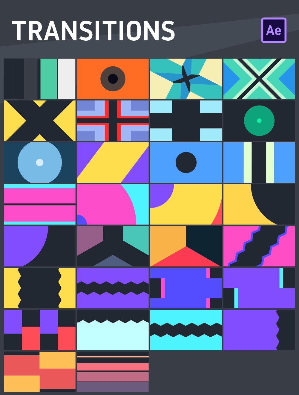 [单独购买] 465款潮流新媒体电商海报幻灯片标题徽标Logo设计动画演示AE视频模板素材 Graphics Pack Rise插图11