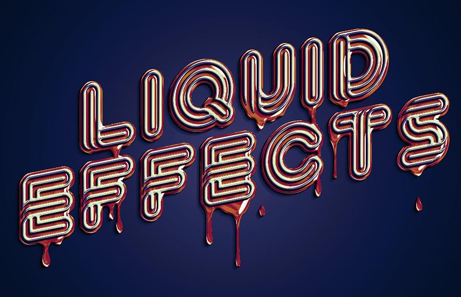 10款金色质感液体3D文本效果PS样机模板素材 Brilliant 3D Liquid Effects插图12