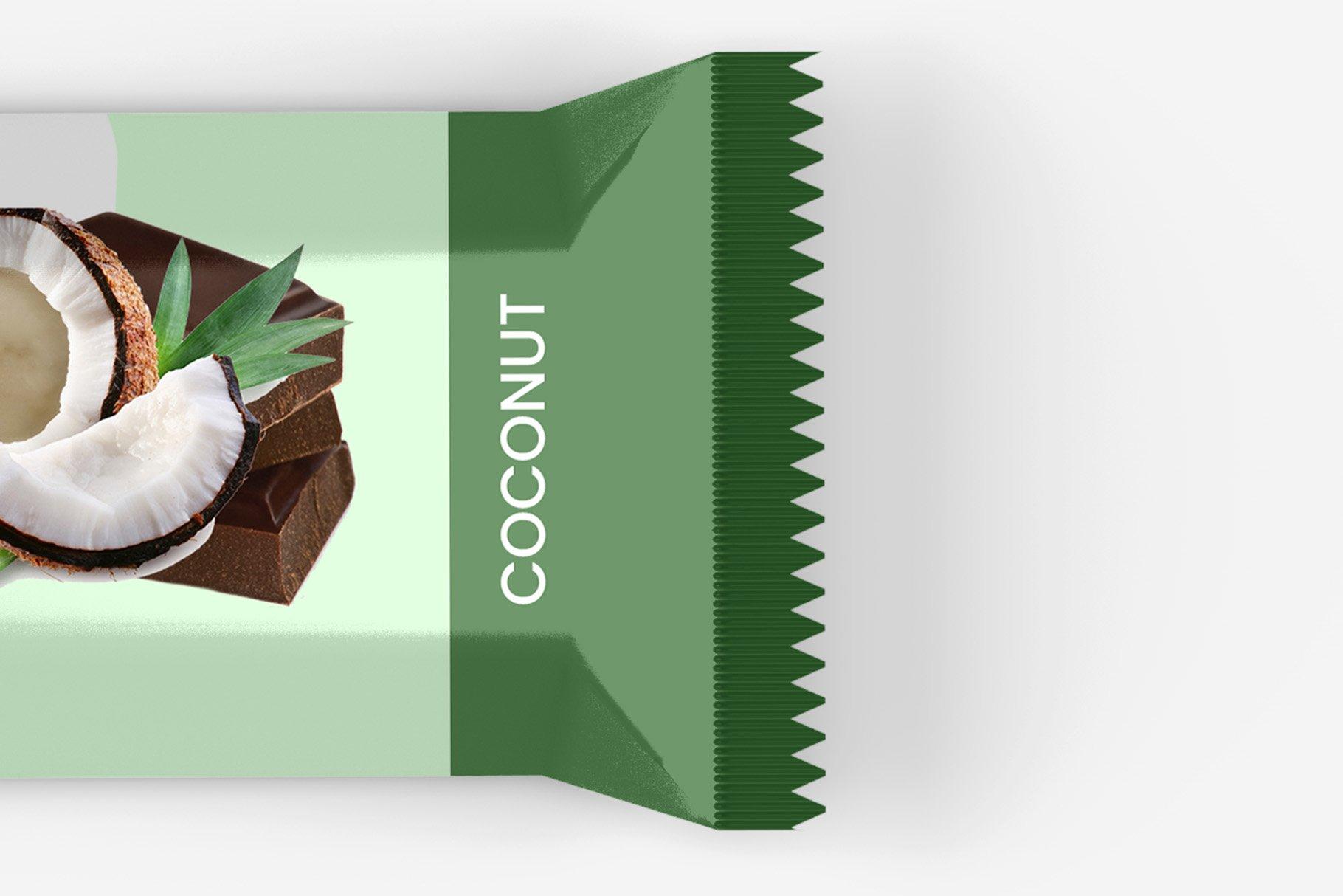 9款零食小吃塑料包装袋设计展示贴图样机 Snack Protein Bar Mockup – 9 Views插图13