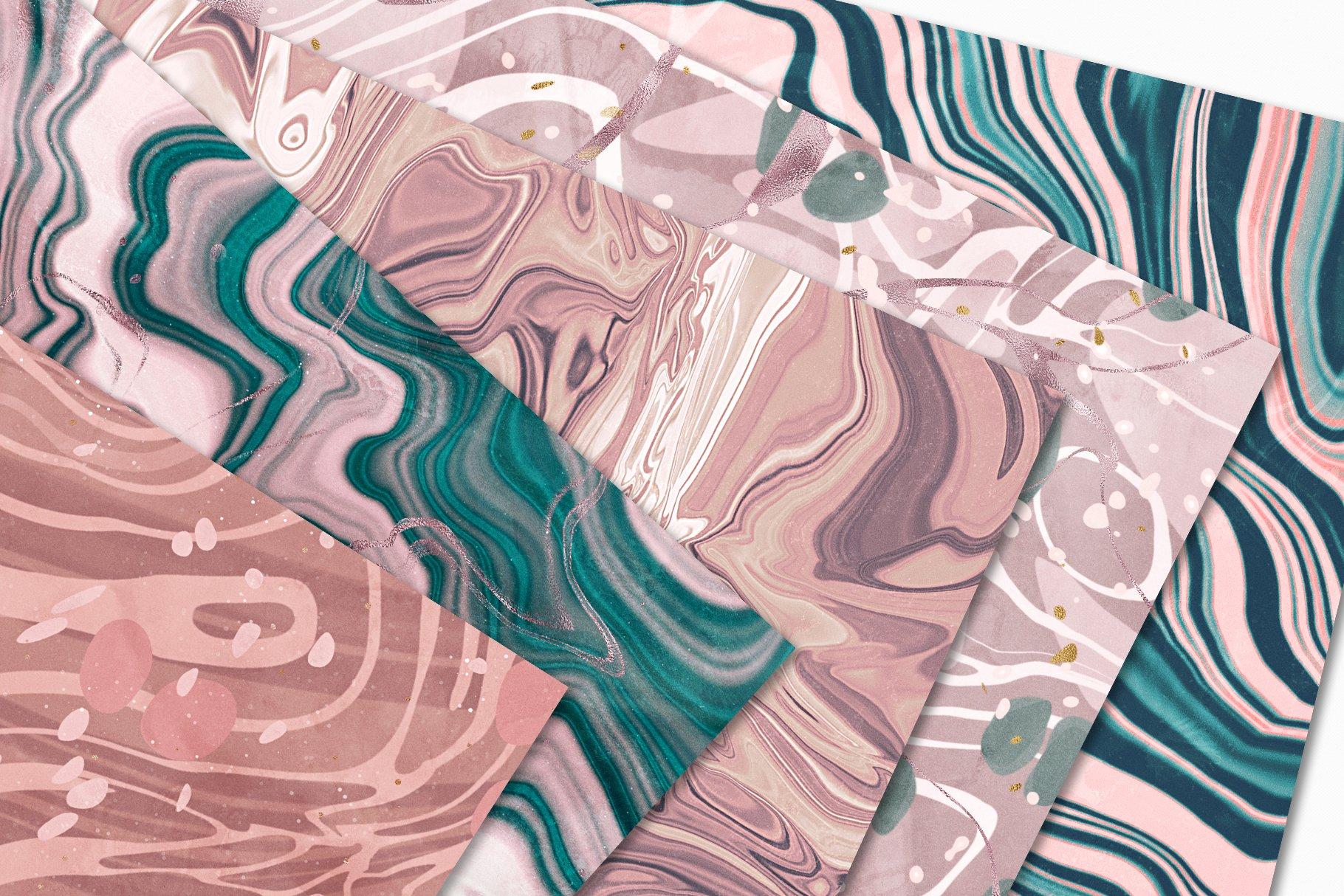 [淘宝购买] 15款抽象复古高清大理石金色箔纸纹理背景图片设计素材合集 Marbled Paper Texture Collection插图13