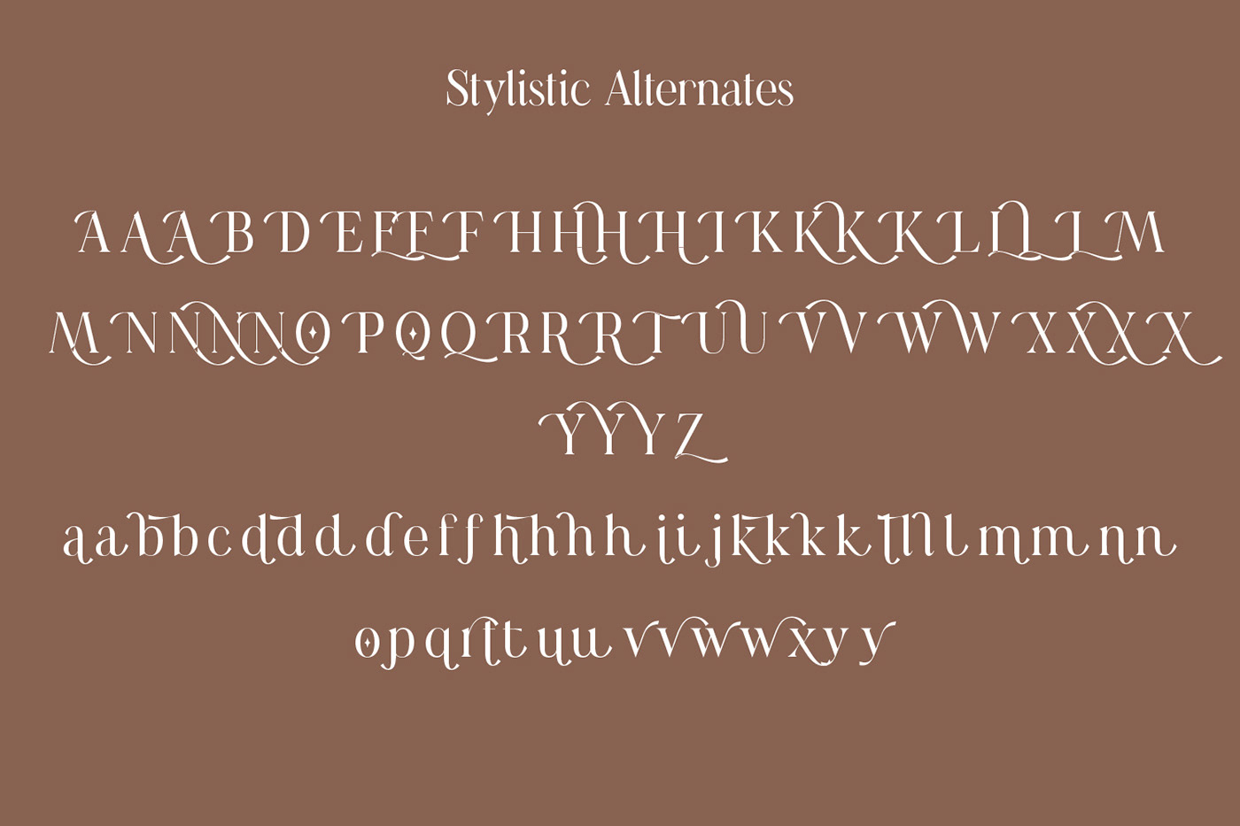 现代时尚连字海报标题徽标Logo设计衬线英文字体素材 Casanova Serif Display Font插图14