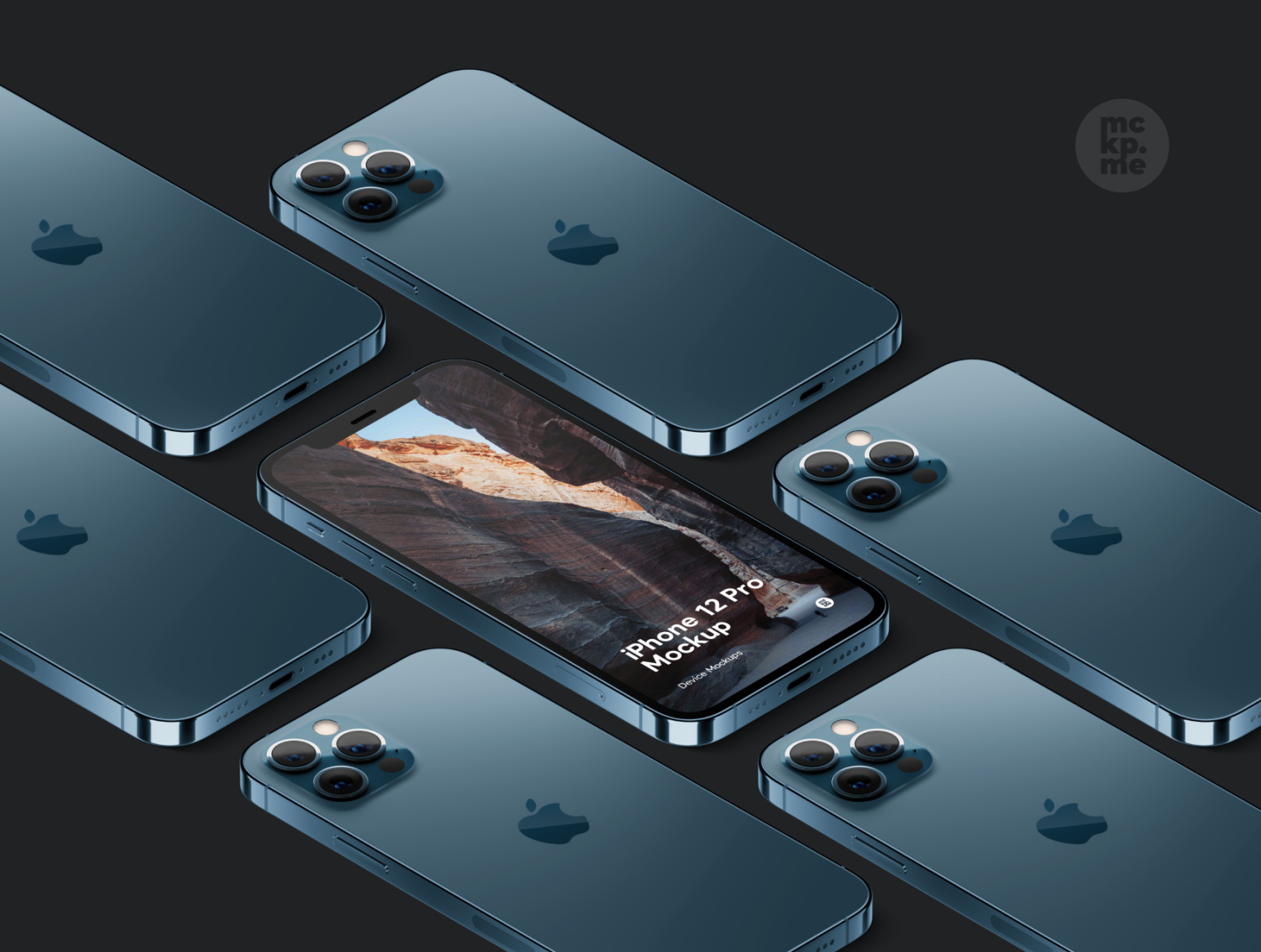 时尚等距苹果iPhone 12 Pro手机软件APP界面设计展示样机合集 iPhone 12 Pro Isometric Pack插图2