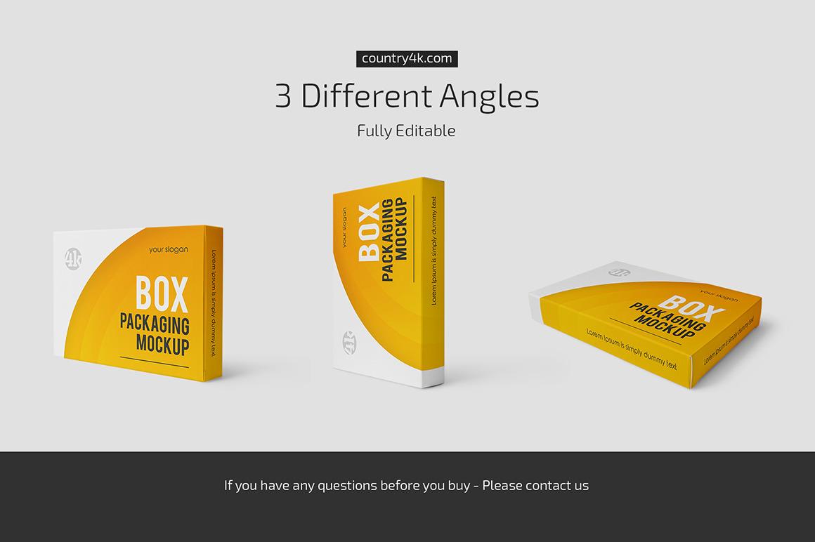 3款产品包装纸盒设计展示样机合集 Box Packaging Mockup Set插图3