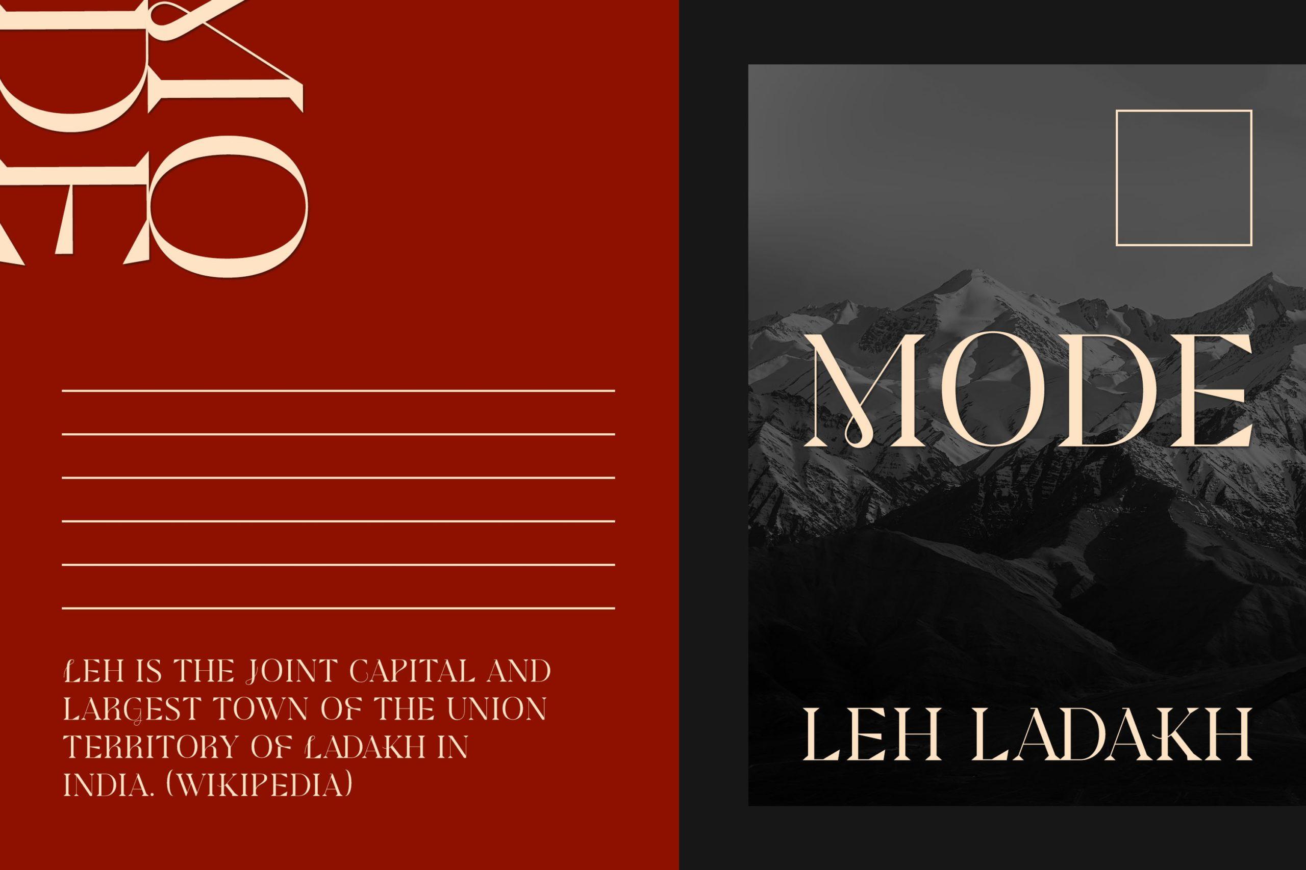 现代极简杂志画册标题徽标Logo设计衬线英文字体素材 Modesfa – Modern Display Serif插图1