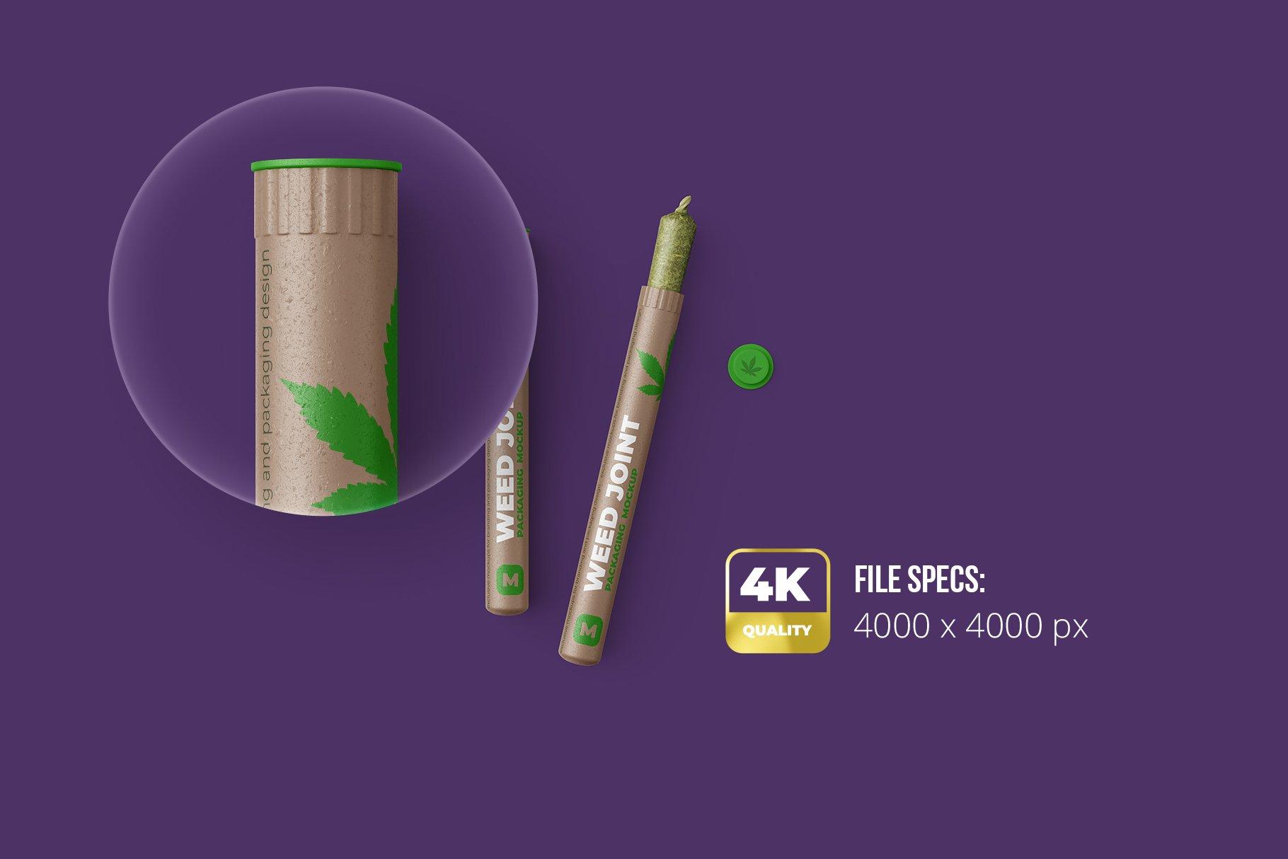 香烟雪茄联合预卷管样机 Weed Joint Pre-Roll Tubes Mockup插图1