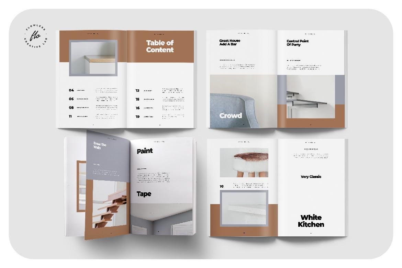 室内家具家居设计作品集目录排版INDD画册模板素材 Melissa Interor Design Catalog插图1