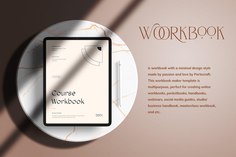 时尚简约杂志画册课程工作簿设计INDD模板素材 Course Workbook插图1