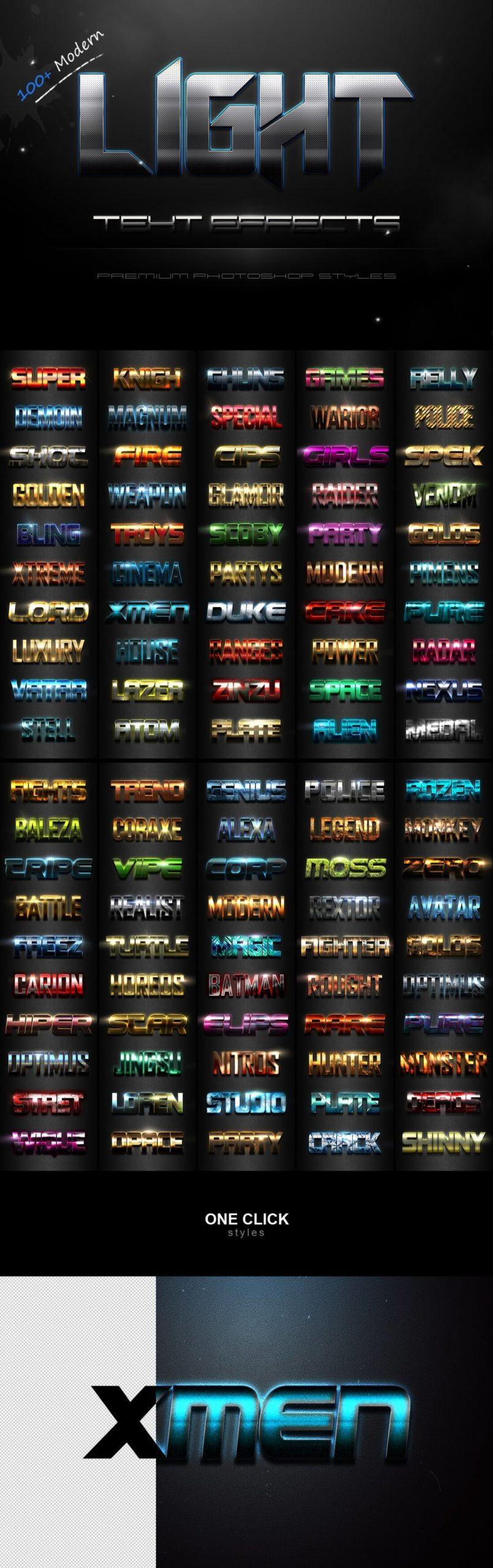 900多款3D立体金属质感标题Logo设计PS文字样式模板 900 Premium Photoshop Text Effects插图2
