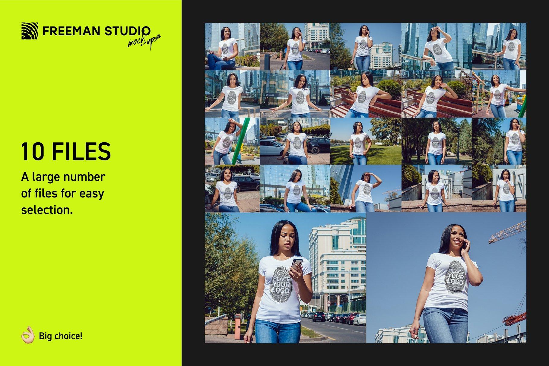 22款女孩半袖T恤衫印花图案设计展示贴图样机合集 Girls T-Shirt Mock-Up Set插图1