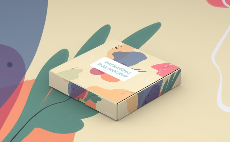 产品快递纸盒设计展示样机模板 Packaging Box Mokcup插图1
