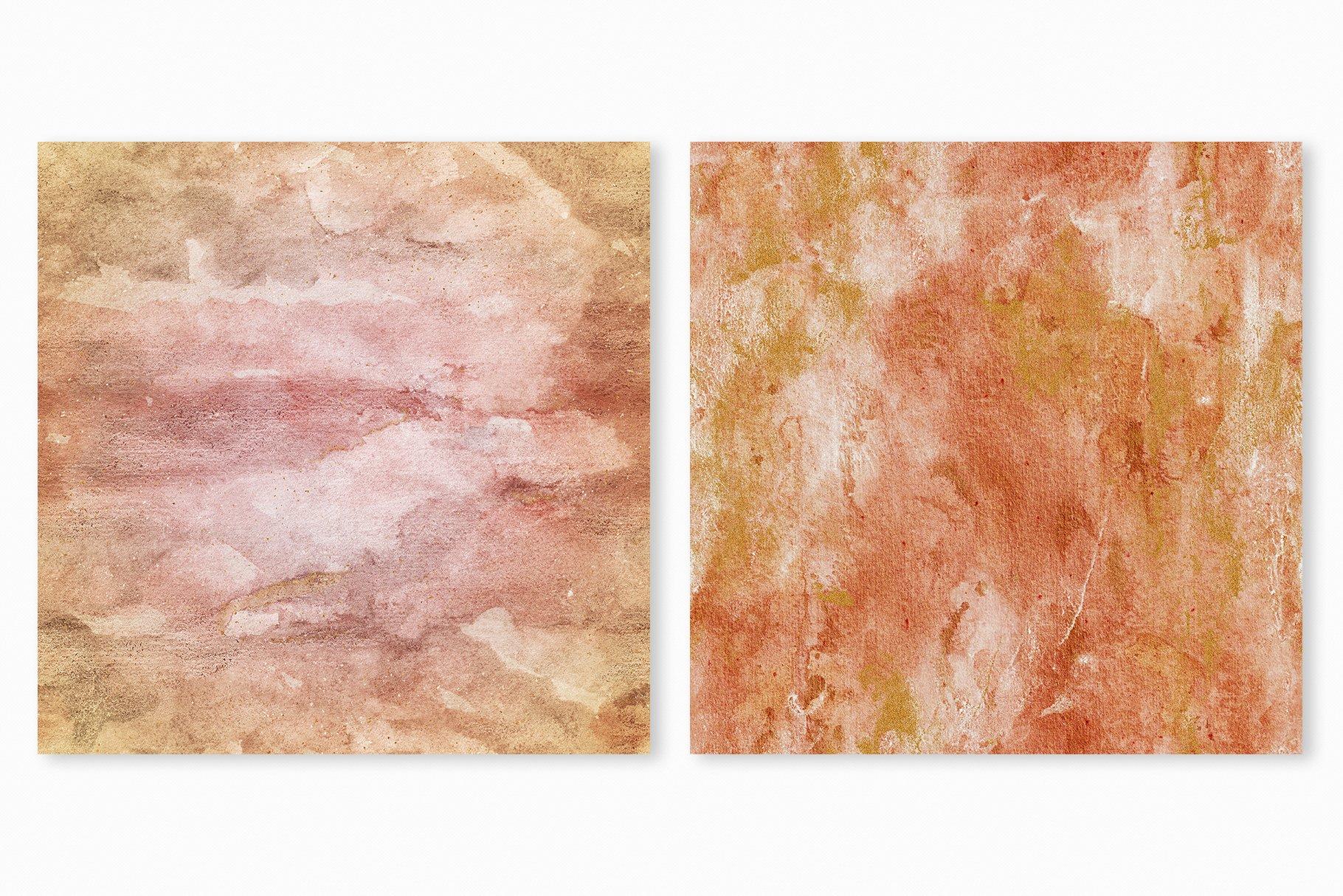 [单独购买] 20款抽象奢华橙色水彩纹理海报设计背景图片素材 20 Seamless Watercolor Textures插图18