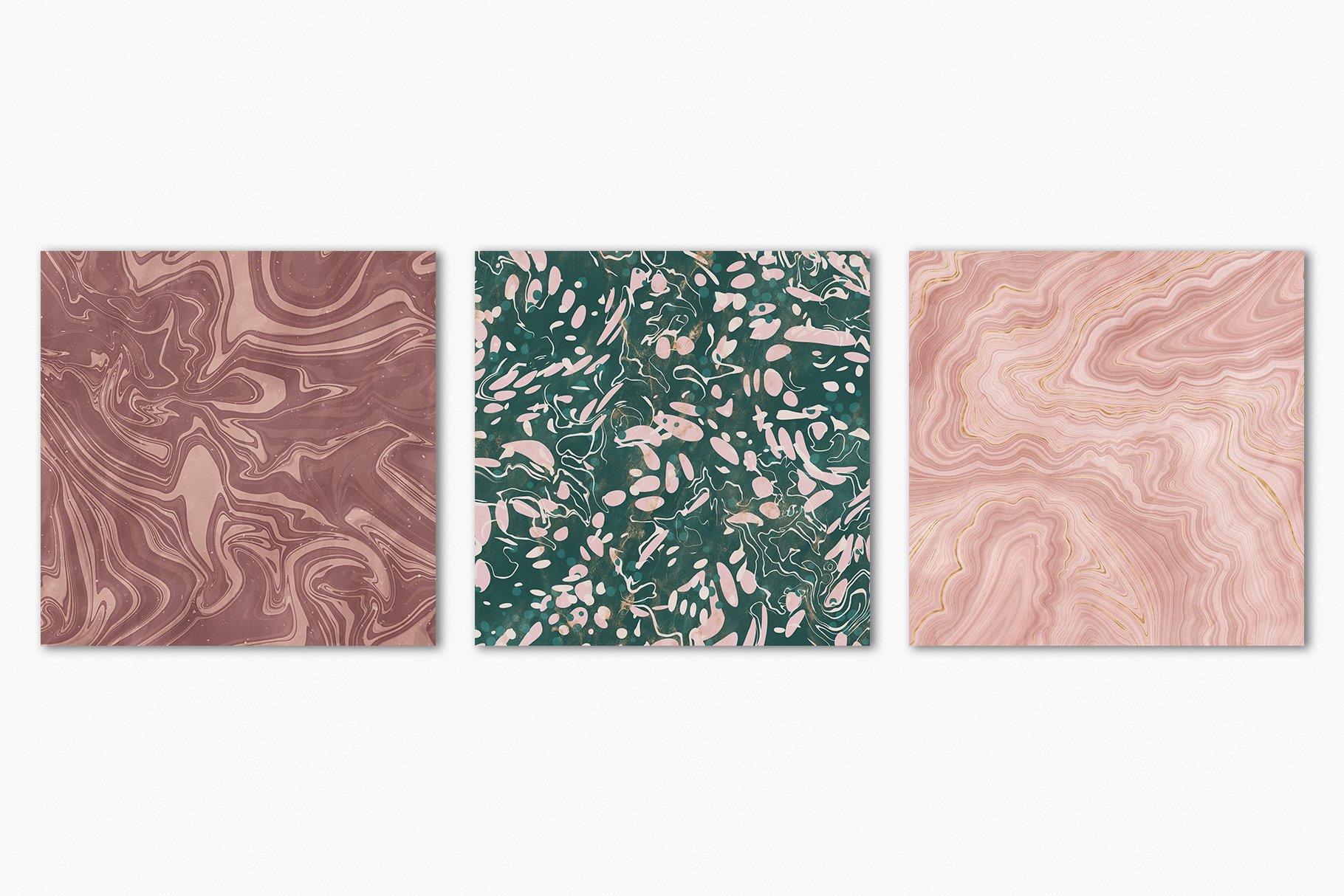 [淘宝购买] 15款抽象复古高清大理石金色箔纸纹理背景图片设计素材合集 Marbled Paper Texture Collection插图20