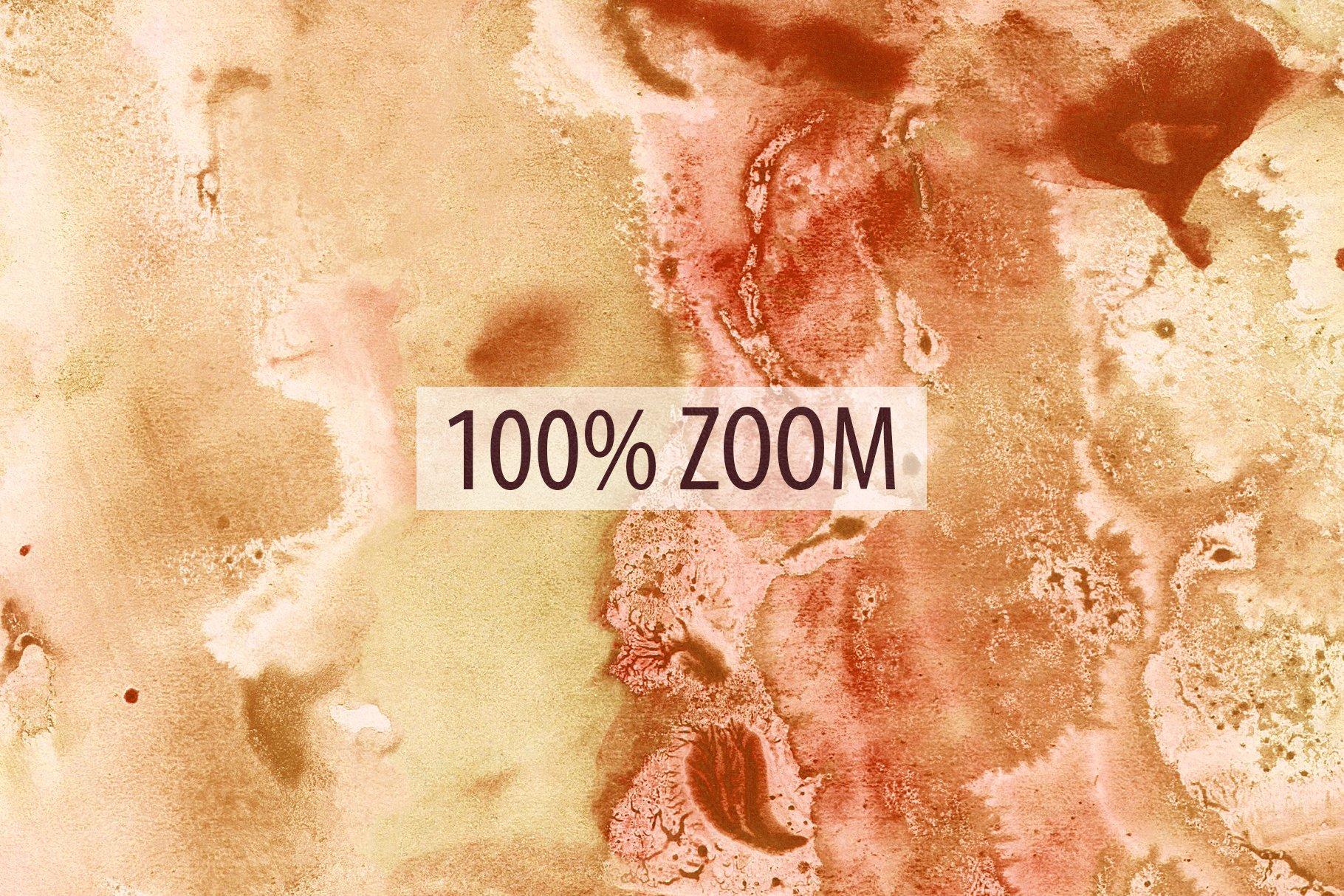 [单独购买] 20款抽象奢华橙色水彩纹理海报设计背景图片素材 20 Seamless Watercolor Textures插图23
