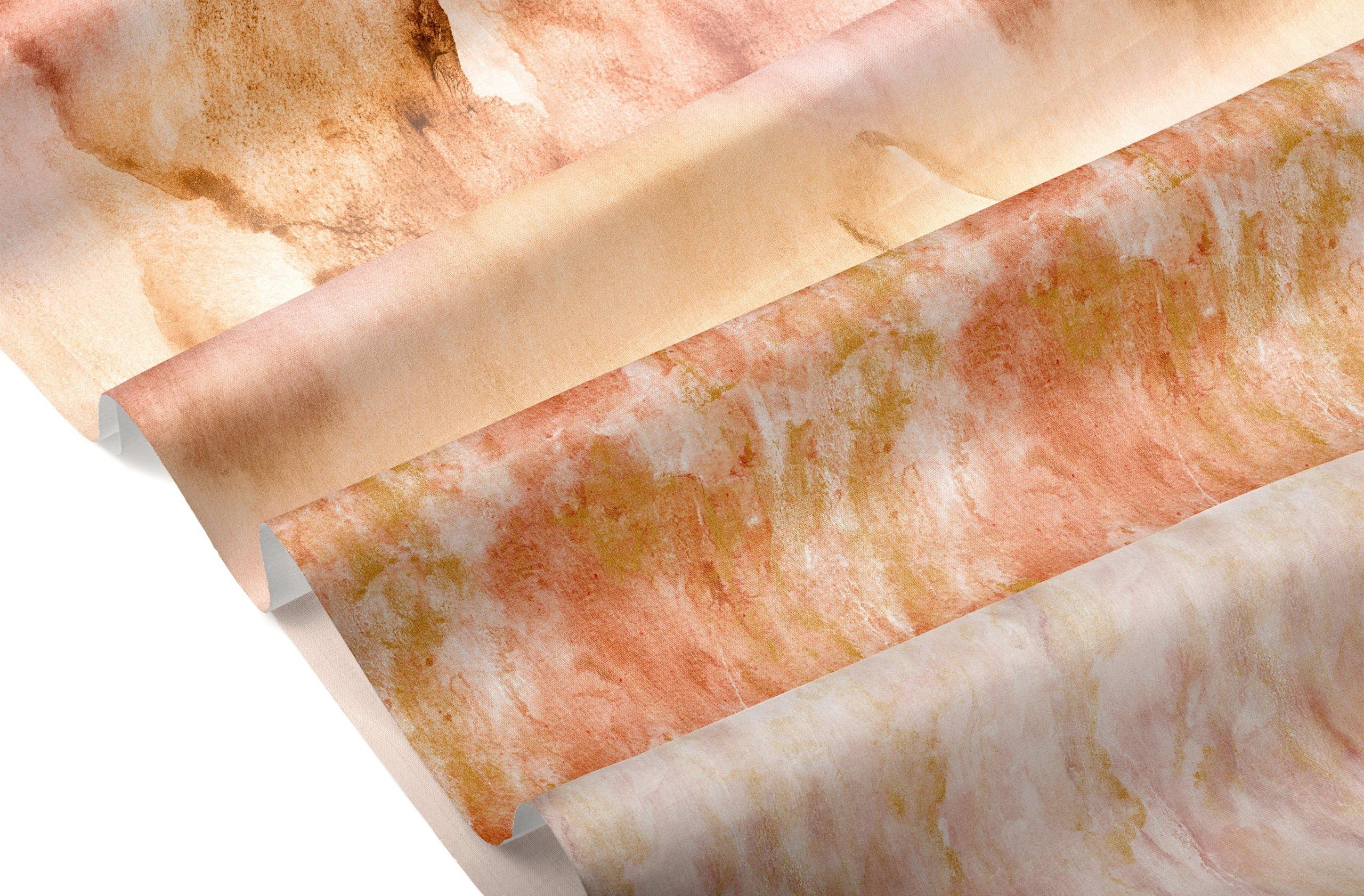 [单独购买] 20款抽象奢华橙色水彩纹理海报设计背景图片素材 20 Seamless Watercolor Textures插图24