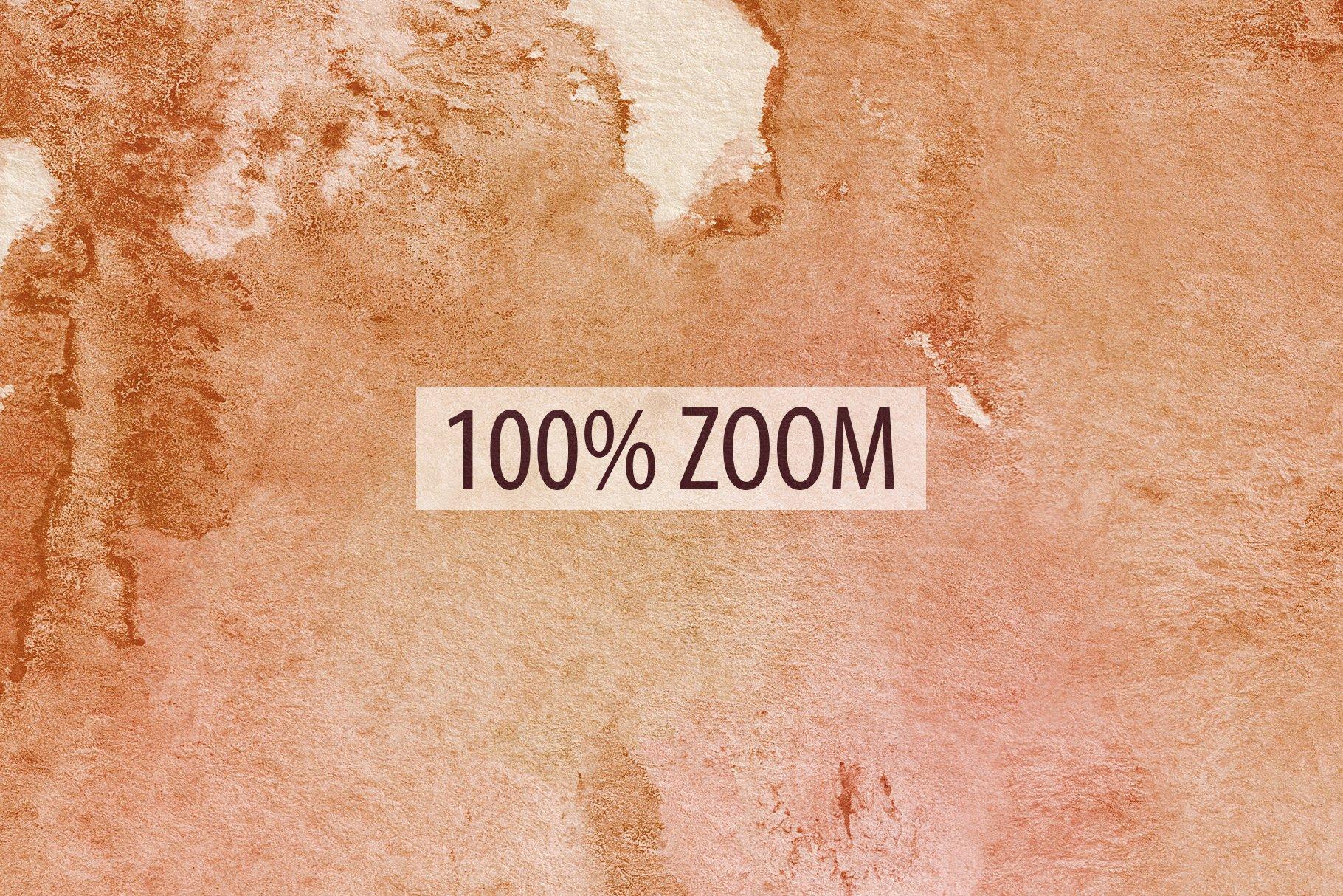 [单独购买] 20款抽象奢华橙色水彩纹理海报设计背景图片素材 20 Seamless Watercolor Textures插图25