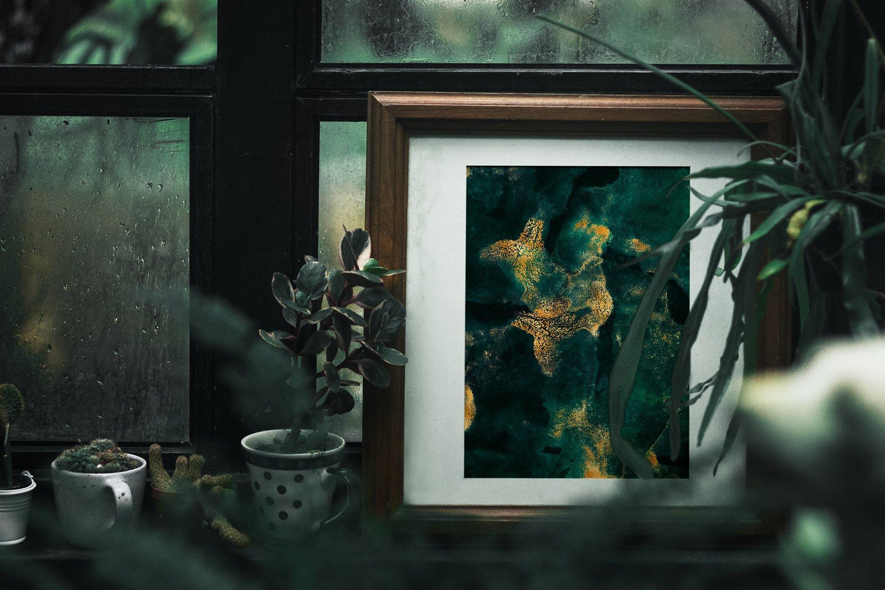 30款奢华翡翠墨绿流金水彩抽象艺术装饰背景底纹图片素材 Seamless Watercolor Backgrounds插图26