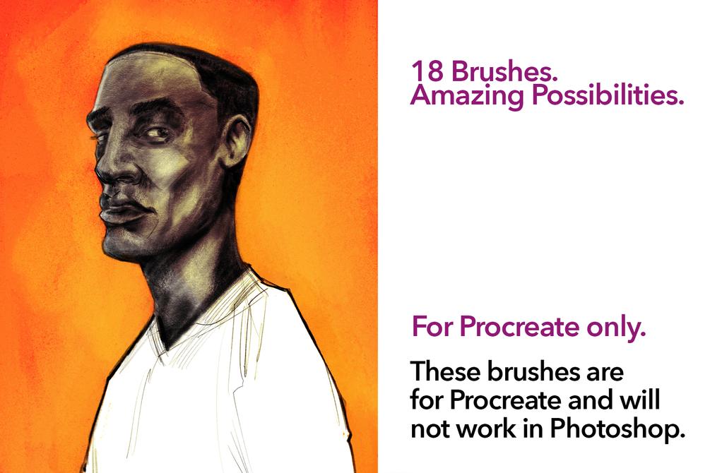 逼真素描水彩线条绘画画笔Procreate笔刷素材 Ink Gang Boss – SketchBox For Procreate插图5