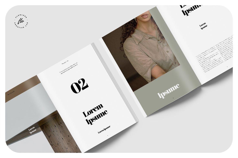 服装摄影作品集排版杂志INDD素材模板 Mahoony Photography Portfolio插图2