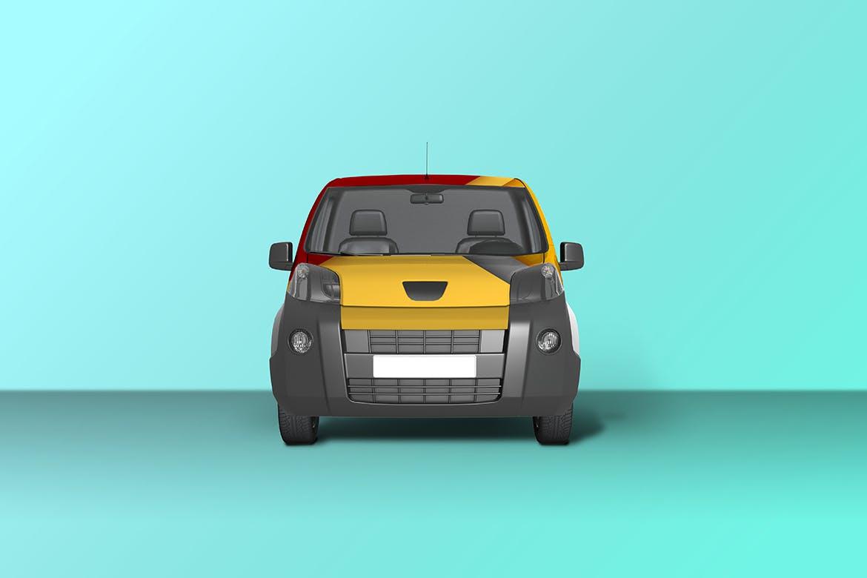 密封货车面包车车身广告设计展示样机 Car Mockup [Vol3]插图2