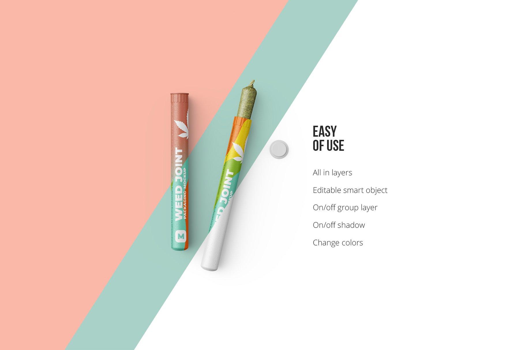 香烟雪茄联合预卷管样机 Weed Joint Pre-Roll Tubes Mockup插图2