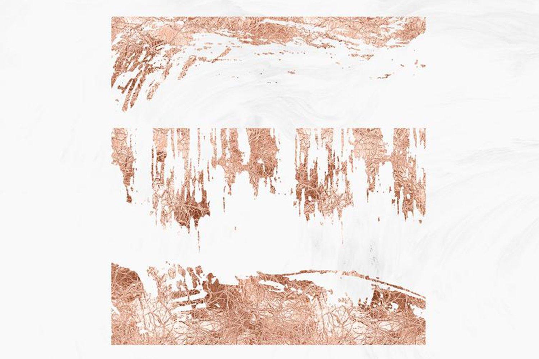 10款抽象玫瑰金箔纸框架剪贴画背景图片素材 Rose Gold Foil Abstract Borders Clipart插图2