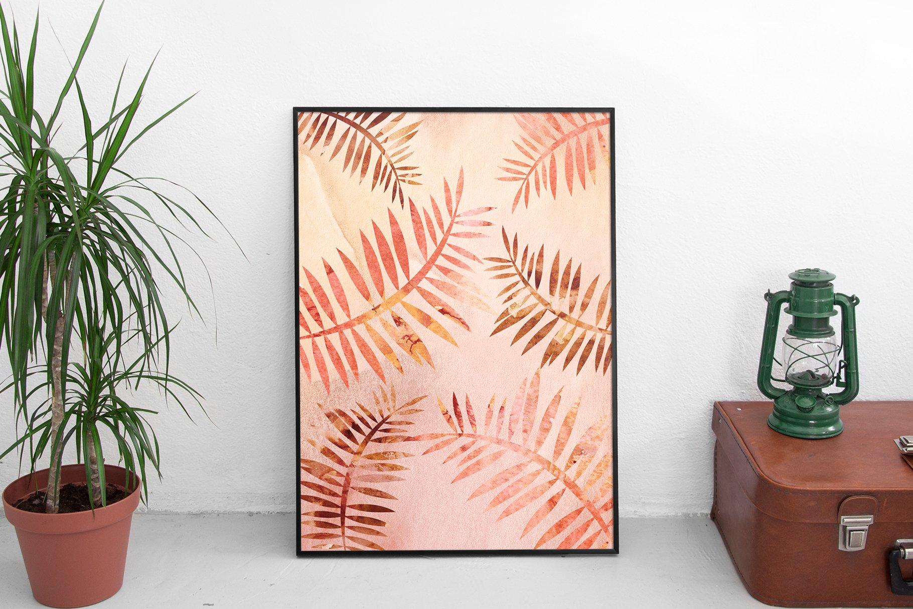 [单独购买] 20款抽象奢华橙色水彩纹理海报设计背景图片素材 20 Seamless Watercolor Textures插图2