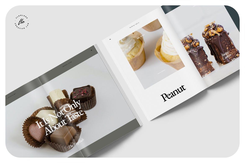 极简主义美食食谱菜单杂志画册设计INDD模板 Mandora Food Recipe Cookbook插图2