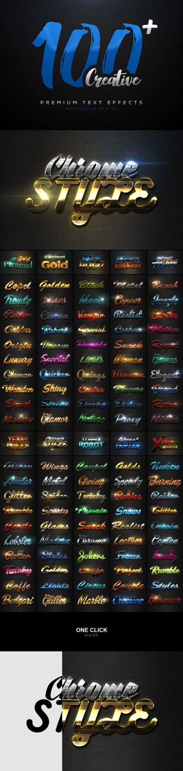 900多款3D立体金属质感标题Logo设计PS文字样式模板 900 Premium Photoshop Text Effects插图3
