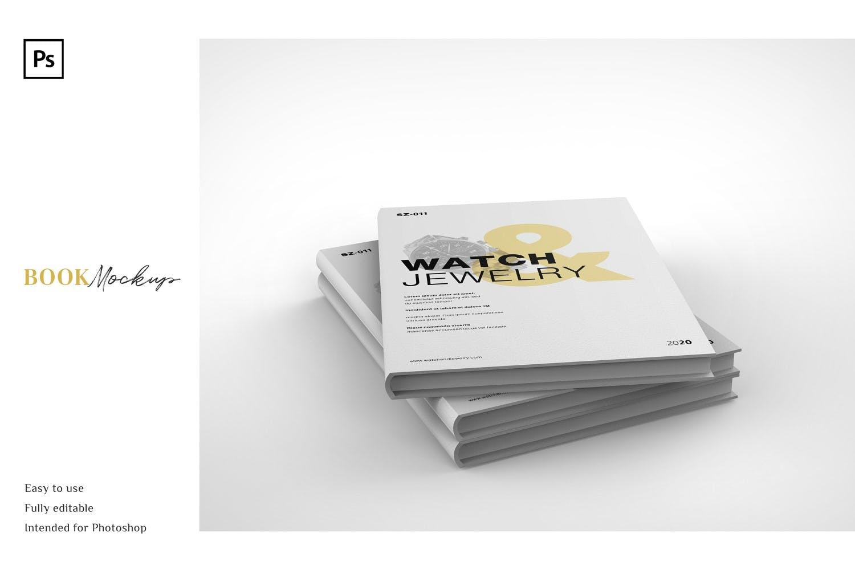 精装书封面设计PSD样机模板素材 Book Mockup插图2